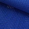 Батист ярко-синий, вышитый, ширина 135 см