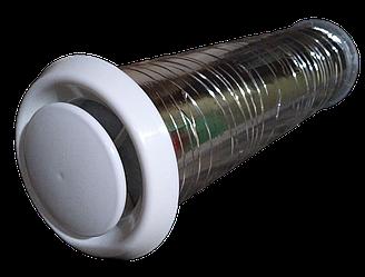 Воздушный приточный клапан в стену КПС-125 (до 40 м3/час)