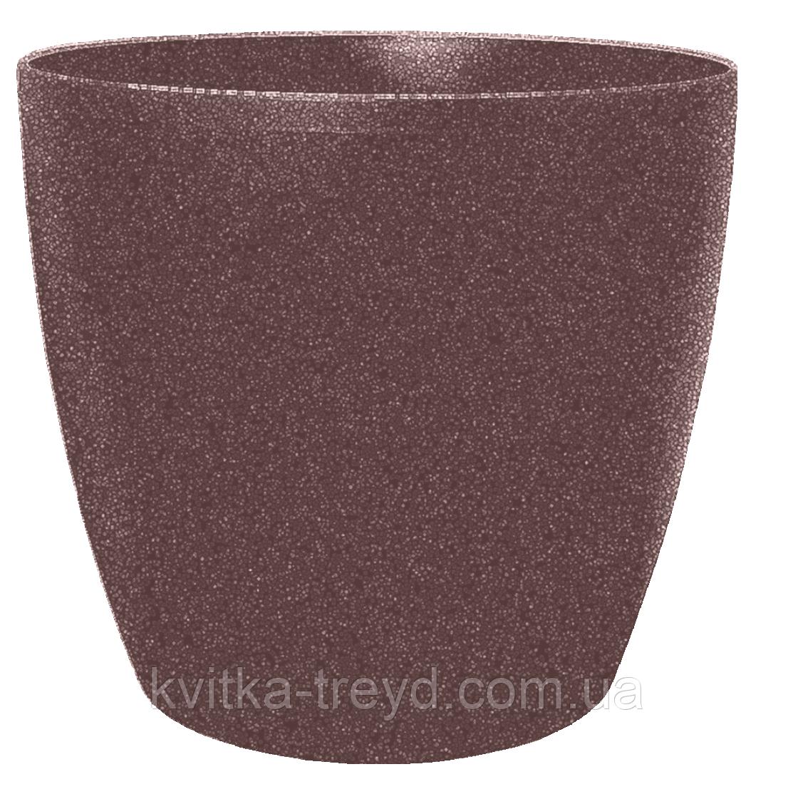 Цветочный горшок МАТИЛЬДА с системой контроля полива + дренаж (Алеана) 16х15