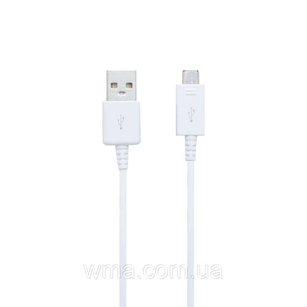 Кабель для зарядки USB (шнур для зарядки телефонов) Data-Cable Original S ECC1DU0BBK Micro 2A 1.2M Цвет Белый