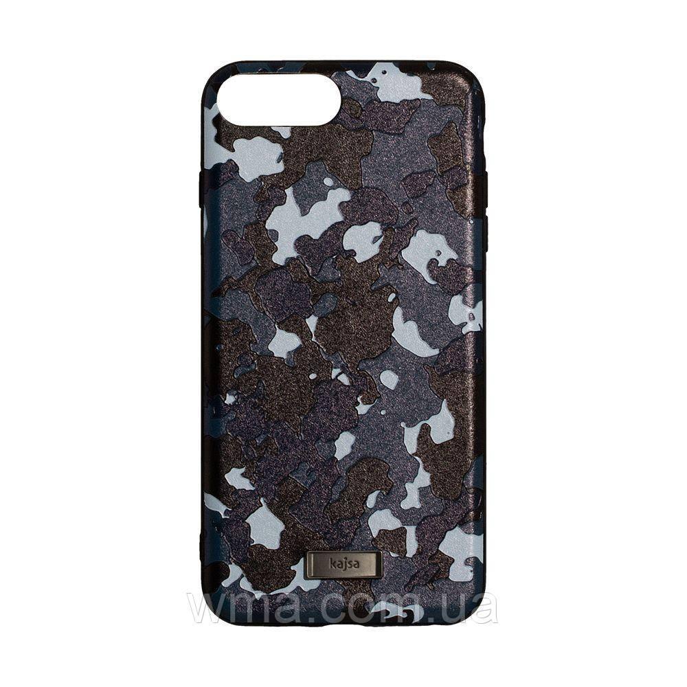 Чехол для телефонов (Смартвонов) Задняя Накладка Kajsa Military for Apple Iphone 8 Plus Цвет Синий