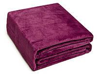 Плед Микрофибра Классический 062 Однотонный Oulaiya 8983 200x220 см Фиолетовый