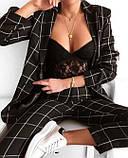 Костюм женский летний, брючный, в клетку. чёрный, белый Размер: 42-44, 44-46, 48-50, 52-54, фото 4