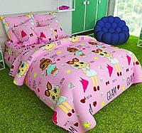 Детская постель Куклы ЛОЛ. Полуторный Комплект детского постельного белья LOL. Ткань Бязь, Коттон
