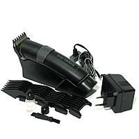 Машинка для стрижки волос с насадками для бороды и усов на аккумуляторе Dingling RF-699 + подарок