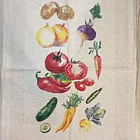 "Льняное полотенце ""Овощной микс"""