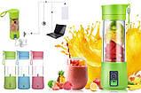 Фитнес-блендер Smart Juice Cup Fruits Портативный миксер, шейкер с USB-зарядкой, фото 4