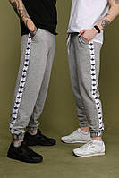 Штаны серые с белыми лампасами Adidas