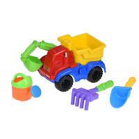 Игрушка для песка Same Toy с Экскаватором 4шт красный (HY-1810WUt-1)