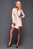 Платье-пиджак с ассиметрией.Размер S M