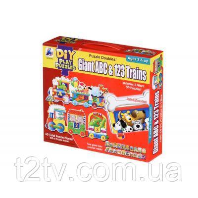 Пазл Same Toy Большой поезд Букв и Цифр (2095Ut)