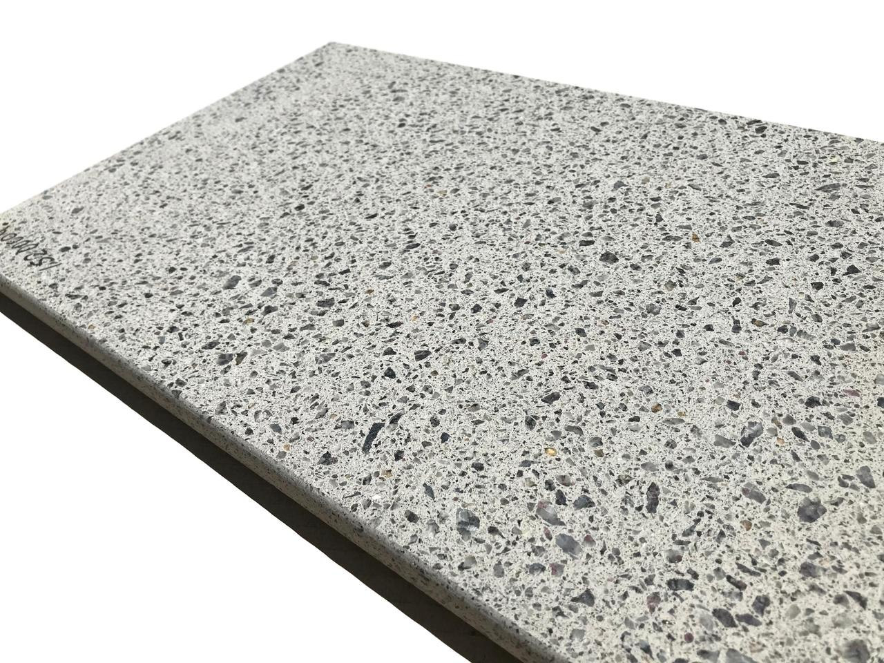 Копинговый камень Терраццо 30х60х3 см - Gray