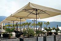 Солнцезащитный зонт с центральной опорой  Petrarca Alluminio от 3*3. Ткань Acrylic gr. 320 m/q Ecru (беж.).