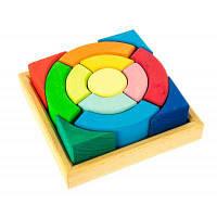 Конструктор nic деревянный Разноцветный круг (NIC523344)