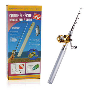 Карманная мини удочка в форме ручки Fishing Rod 150259