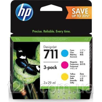Картридж HP DJ No.711 DesignJet 120/520 (3*28ml) CYM (P2V32A)