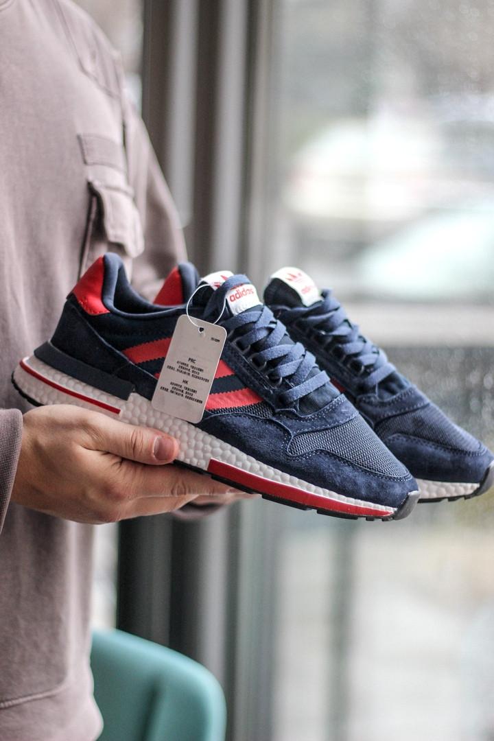 Стильные мужские кроссовки Adidas ZX 500 Blue/Red