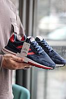 Стильные мужские кроссовки Adidas ZX 500 Blue/Red, фото 1