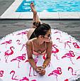 """Пляжный коврик """"Фламинго"""" 150 см (плотный), фото 2"""