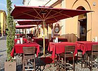 Солнцезащитный зонт для кафе и ресторанов   Petrarca Wood. Ткань Acrylic gr. 320 m/q Ecru (беж.).