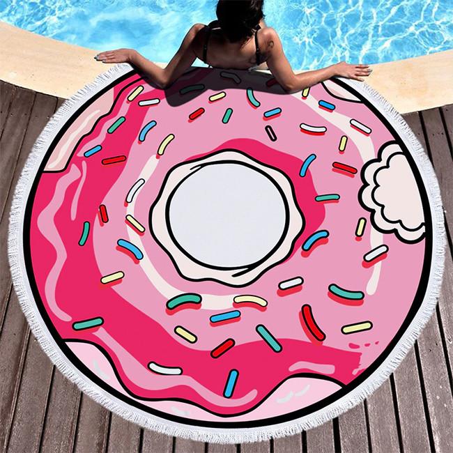 """Пляжный коврик """"Пончик"""" 150 см (плотный)"""