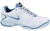 Кроссовки женские Nike City Court 7 white/light-blue (488136-110)