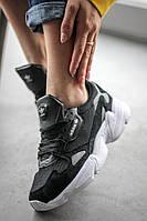 Женские кроссовки Adidas Falcon Black/White (Адидас Фалькон), фото 1