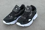 Женские кроссовки Adidas Falcon Black/White (Адидас Фалькон), фото 8