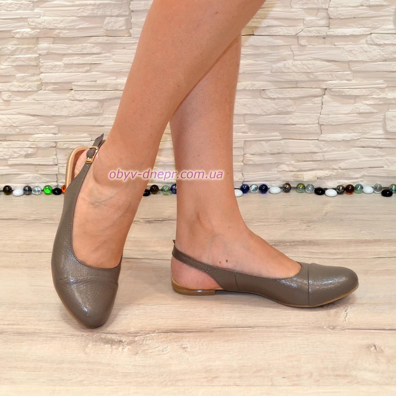 Женские кожаные босоножки с закрытым носком и открытой пяткой от производителя