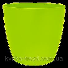 Цветочный горшок МАТИЛЬДА с системой контроля полива + дренаж (Алеана) 24х22