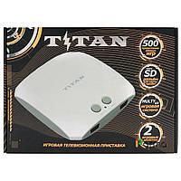 Titan 3 игровая приставка (500 встроенных игр 8-16 бит) белая