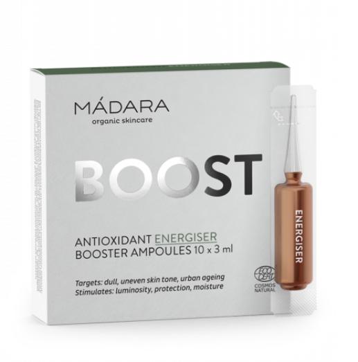 Бустер антиоксидант, що надає енергію в ампулі/ Antioxidant Energiser Madara. 3мл х 1шт.