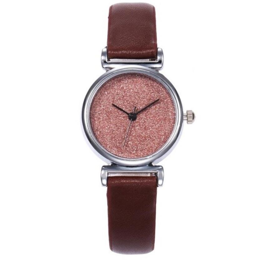 Часы женские коричневые Мерцание /кварцевые/цвет ремешка коричневый