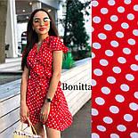 Женский сарафан платье на запах с рюшами в горошек (в расцветках), фото 3