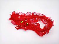 Повязочка Сорока детская красная с бантиком 0379