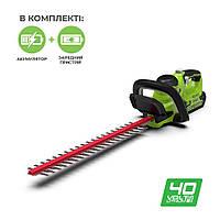 Кусторез аккумуляторный Greenworks G40HT61K2