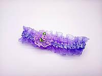 Повязочка Сорока детская фиолетовая с цветочком 0379