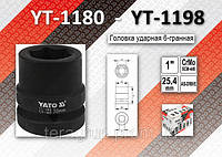 "Торцевая головка ударная 6-гранная 1"" x 30мм, YATO YT-1186"