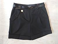 Школьные шорты для девочки чёрный р. 140