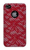Чехол для телефона Truecarbon Vintage Burlesque back cover for iPhone 4, red (IPH4BURFMR)