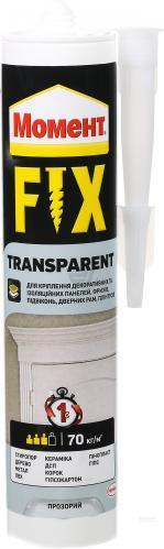 Монтажний клей Момент FIX Transparent 280г