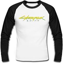Футболка с длинным рукавом Cyberpunk 2077 Yellow Logo