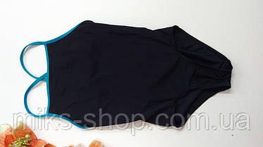 Якісний чорний підлітковий купальник Розмір 164, фото 3