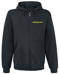 Толстовка с молнией Cyberpunk 2077 Yellow Logo