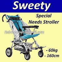 Sweety Special Needs Stroller - Специальная Прогулочная Коляска для Реабилитации Детей с ДЦП до 60кг