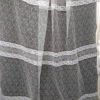 Тюль с  вышивкой на фатиновой основе. Оптом и на метраж .Высота 2.8 м. Версачи, фото 1