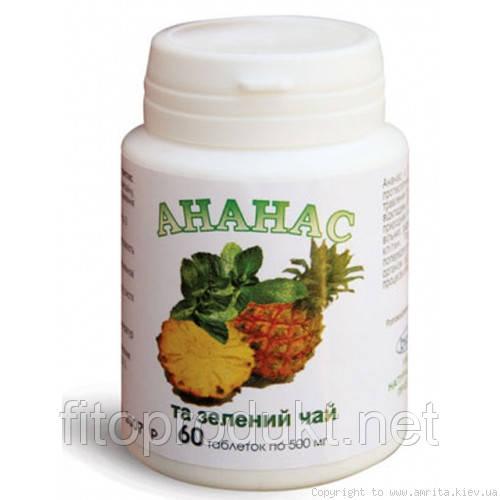 Ананас и зелёный чай - коррекция веса.