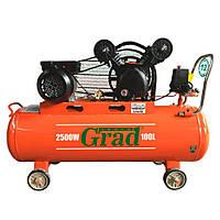 Компрессор ременной Grad V (7044185) (2.5 кВт, 378 л/мин, 100 л)