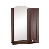 Зеркало Классик (орех итальянский) 60 см с пеналом справа без подсветки