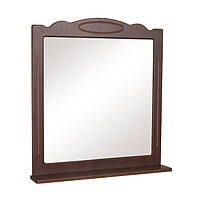 Зеркало Классик (орех итальянский) 65 см с полкой без подсветки
